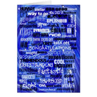 Congratulations Graduate - Blue Card