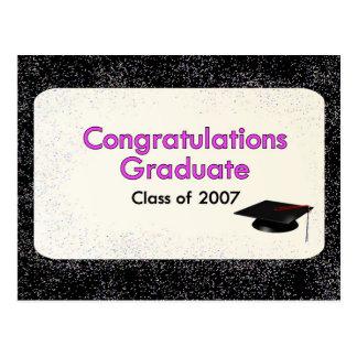 Congratulations Graduate Class of 2007 Postcard