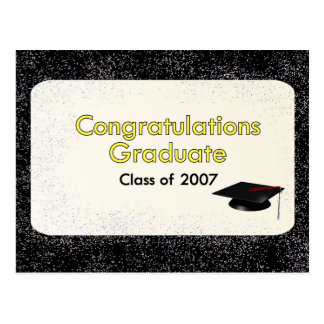 Congratulations Graduate Class of 2007 Yellow Postcard