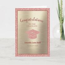 Congratulations Graduate Class of 2021 Pink Gold Card