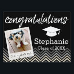 "Congratulations Graduate Class of Year Graduation Sign<br><div class=""desc"">Add 2018,  2019 or any year to personalize this whimsical design. This can be used for any graduate - high school,  college,  grad school,  med school or even trade school.</div>"
