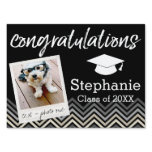 Congratulations Graduate Class of Year Graduation Sign<br><div class='desc'>Add 2018,  2019 or any year to personalize this whimsical design. This can be used for any graduate - high school,  college,  grad school,  med school or even trade school.</div>