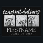 "Congratulations Graduate Class of Year Graduation Yard Sign<br><div class=""desc"">Add 2018,  2019 or any year to personalize this whimsical design. This can be used for any graduate - high school,  college,  grad school,  med school or even trade school.</div>"