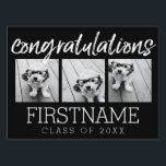 """Congratulations Graduate Class of Year Graduation Yard Sign<br><div class=""""desc"""">Add 2018,  2019 or any year to personalize this whimsical design. This can be used for any graduate - high school,  college,  grad school,  med school or even trade school.</div>"""
