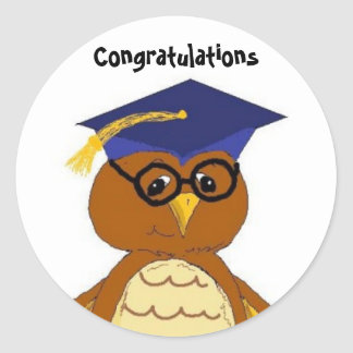 Congratulations Graduate Classic Round Sticker