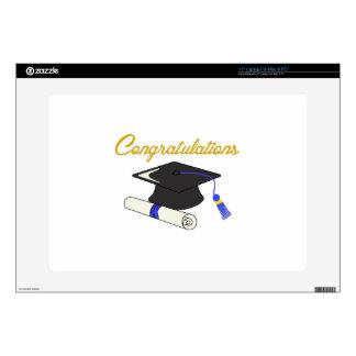 "Congratulations Graduate Decal For 15"" Laptop"