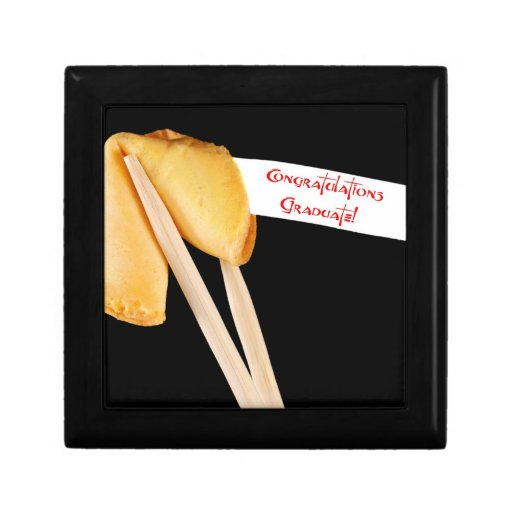 Congratulations graduate fortune cookie keepsake box zazzle for Fortune cookie jewelry box