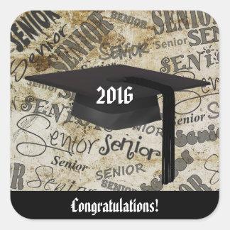 Congratulations, Graduate Glossy Square Sticker