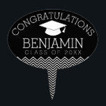 "Congratulations Graduate Graduation CAN EDIT COLOR Cake Topper<br><div class=""desc"">Add 2018,  2019 or any year to personalize this whimsical design. This can be used for any graduate - high school,  college,  grad school,  med school or even trade school.</div>"