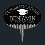 """Congratulations Graduate Graduation CAN EDIT COLOR Cake Topper<br><div class=""""desc"""">Add 2018,  2019 or any year to personalize this whimsical design. This can be used for any graduate - high school,  college,  grad school,  med school or even trade school.</div>"""