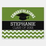 Congratulations Graduate - Green Black Graduation Sign
