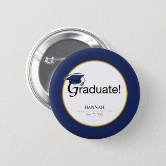Congratulations Graduate, Hat, Tassel, Blue, Gold Button