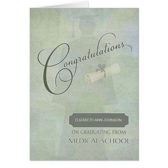 congratulations graduate medical school name card  zazzle