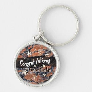 Congratulations Graduate Orange Stone Keychain