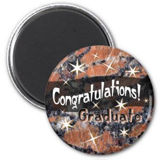 Congratulations Graduate Orange Stone Magnet
