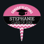 "Congratulations Graduate - Personalized Graduation Cake Topper<br><div class=""desc"">Add 2018,  2019 or any year to personalize this whimsical design. This can be used for any graduate - high school,  college,  grad school,  med school or even trade school.</div>"