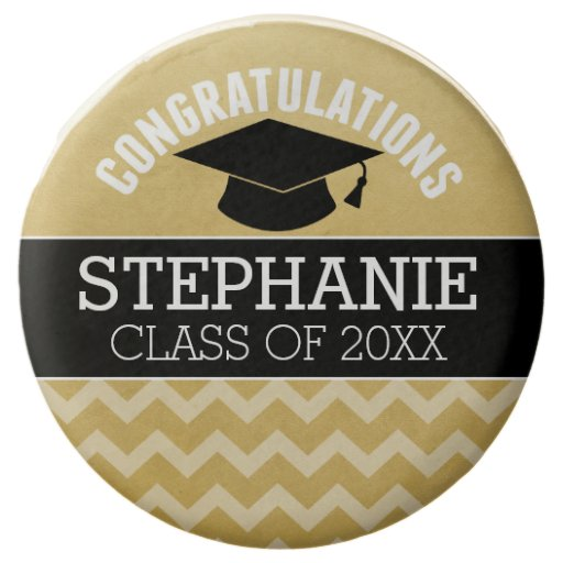 Congratulations Graduate - Personalized Chocolate Dipped Oreo