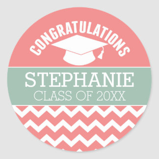 Congratulations Graduate - Personalized Graduation Classic Round Sticker