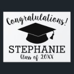 "Congratulations Graduate - Personalized Graduation Lawn Sign<br><div class=""desc"">Add 2018,  2019 or any year to personalize this whimsical design. This can be used for any graduate - high school,  college,  grad school,  med school or even trade school.</div>"