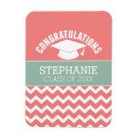 Congratulations Graduate - Personalized Graduation Rectangular Photo Magnet
