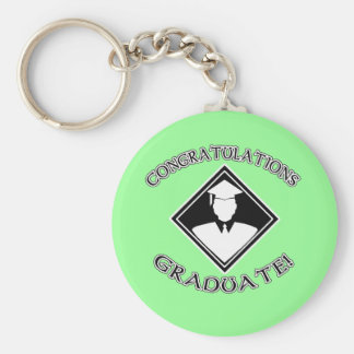 Congratulations Graduate Products Basic Round Button Keychain