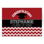 Congratulations Graduate - Red Black Graduation Greeting Card