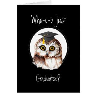 Congratulations Graduating Cute Wise Owl Greeting Card