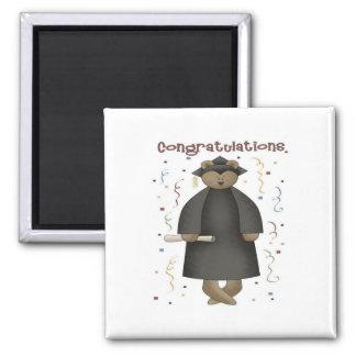 Congratulations Graduation Bear 2 Inch Square Magnet