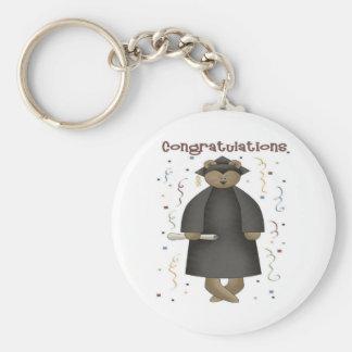 Congratulations Graduation Bear Basic Round Button Keychain