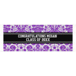 Congratulations Graduation Custom Name Banner Poster