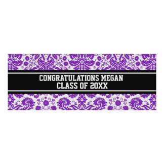 Congratulations Graduation Custom Name Banner Posters