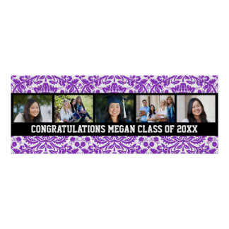 Congratulations Graduation Custom Photo Banner Poster