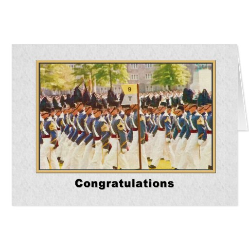 Congratulations, Graduation From West Point Greeting Card