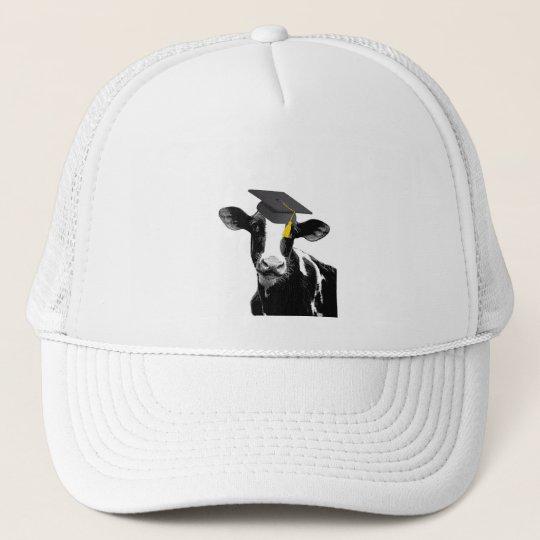Congratulations Graduation Funny Cow in Cap
