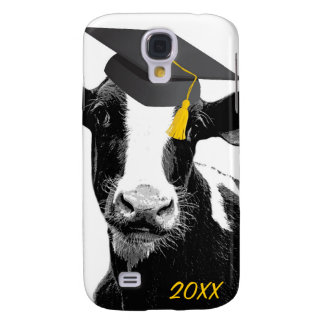 Congratulations Graduation Funny Cow in Cap Samsung Galaxy S4 Case