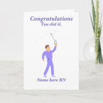 Congratulations Graduation Registered Nurse Male Card