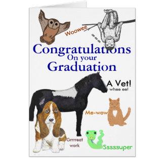 Congratulations Graduation Veterinary Card