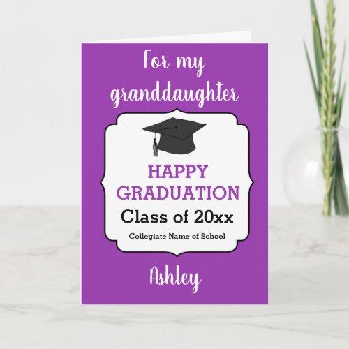 Congratulations Granddaughter Graduation Card