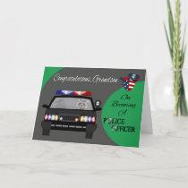 Congratulations, Grandson, Police Officer Card