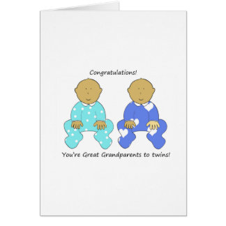 Congratulations Great Grandparents to twins. Card