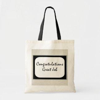 Congratulations Great Job Tote Bags