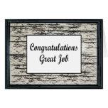Congratulations Great Job Greeting Card
