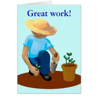 congratulations - great work card