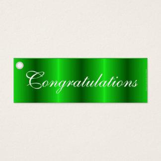 Congratulations green gift tag