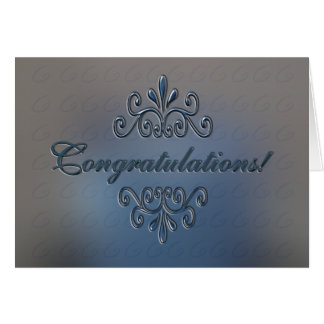 Congratulations Greeting Card - Classic Silver