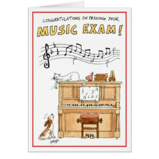 Congratulations greeting card - passing music exam