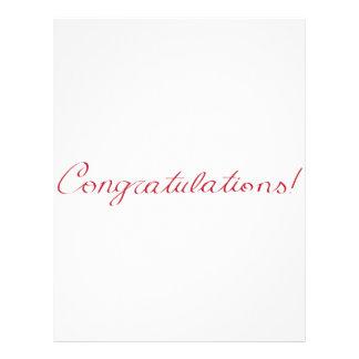 Congratulations - handwritten note letterhead