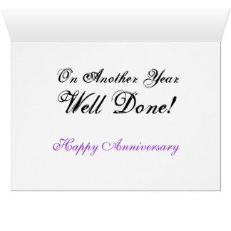 Congratulations Happy Anniversay Card