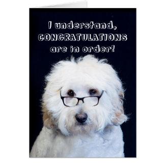 CONGRATULATIONS - HUMOR W/DOG/BLACK-RIM GLASSES CARD