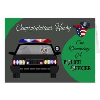 Congratulations, Husband, Police Officer Card